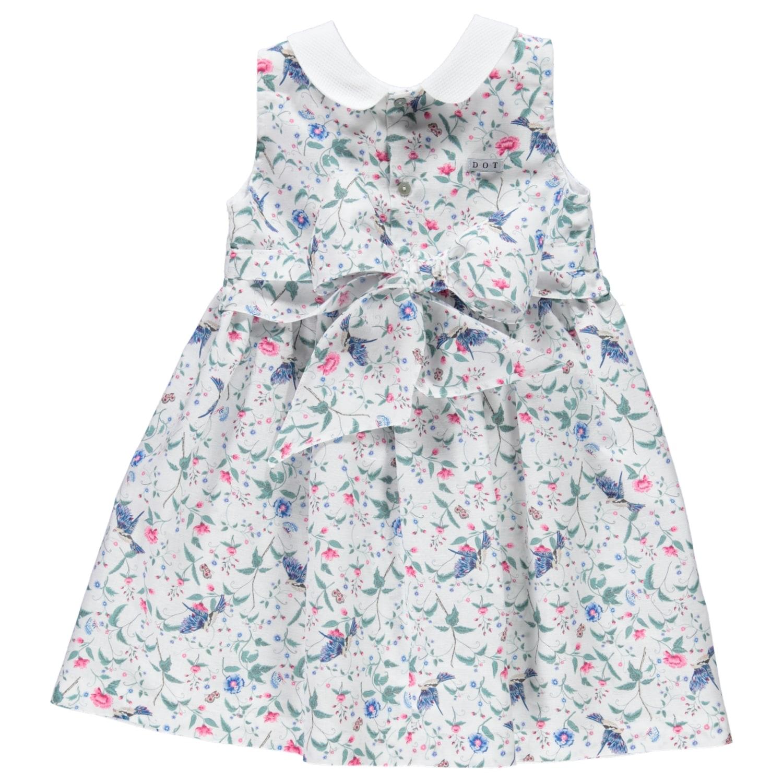 Birds & Flowers Print Dress