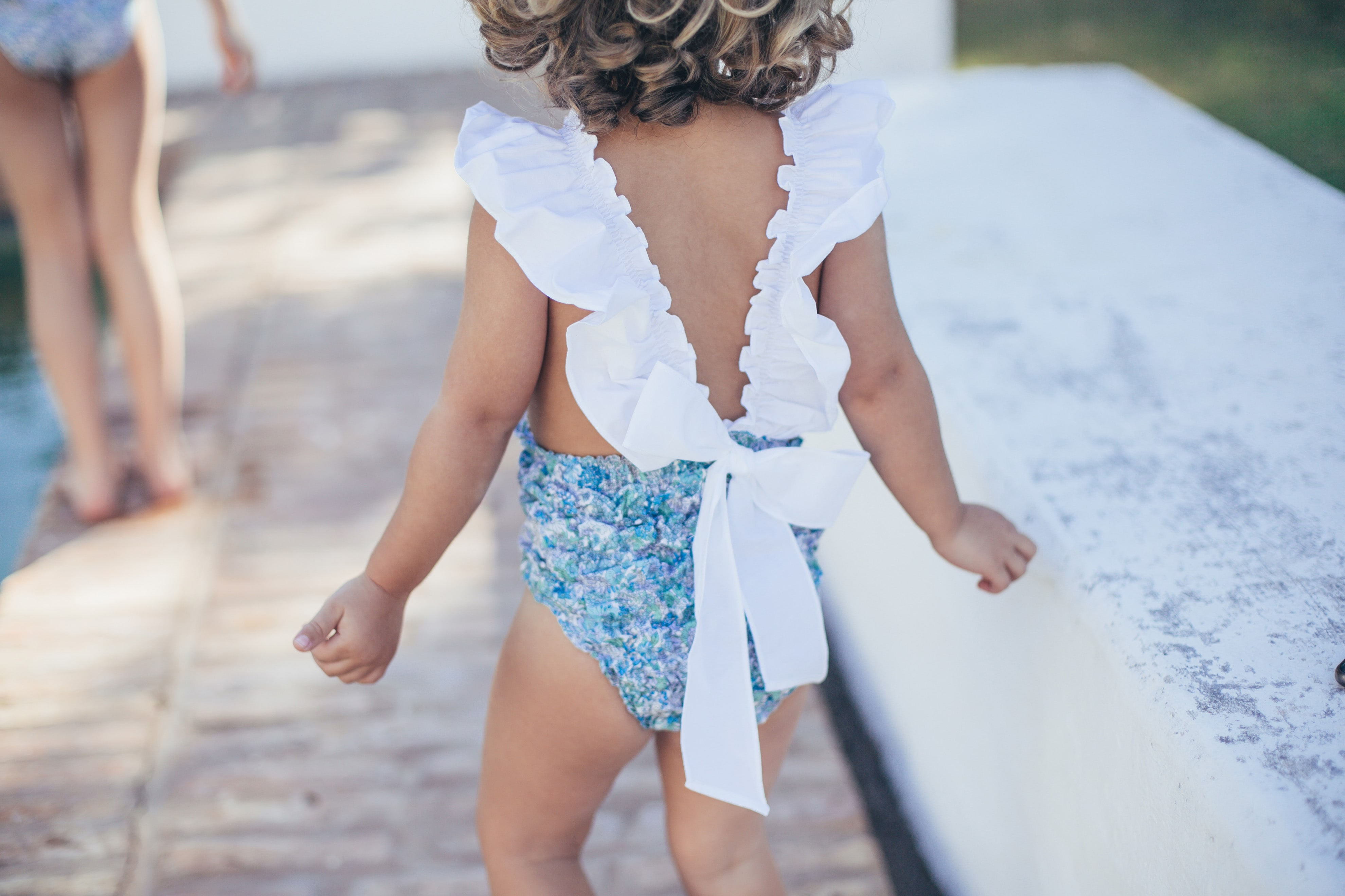 Baby Girls GREEN STRIPES Swimsuit by Dot Baby