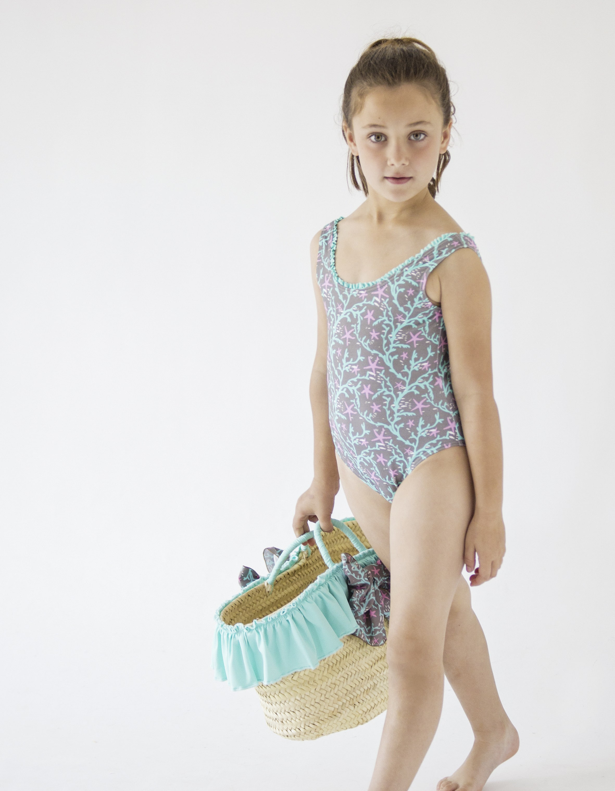 GIRLS CORAL REEF SWIMSUIT by Nueces Kids