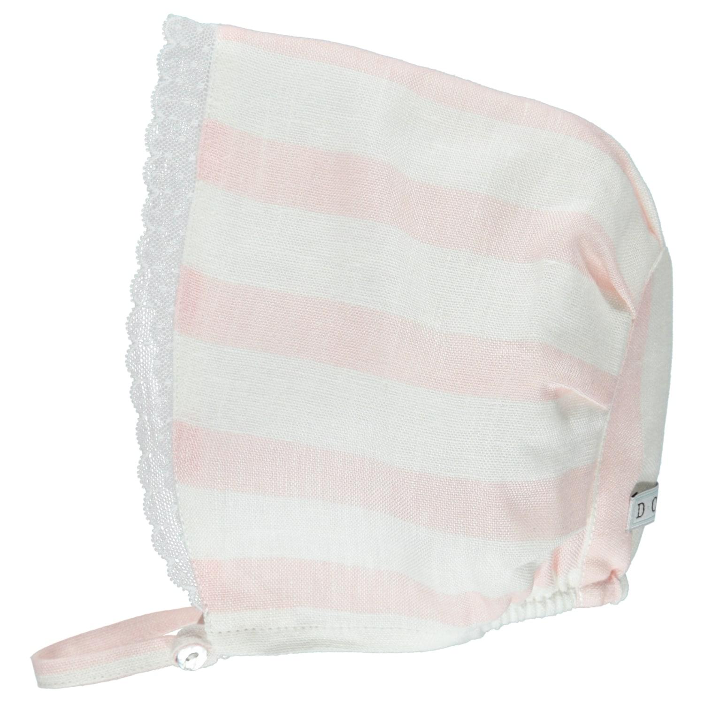 Pink Linen Short & Bonnet Set by DOT BT